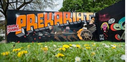 Graffiti Prekariat in der Dortmunder Nordstadt. Foto © Dietrich Hackenberg