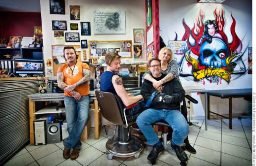 Vatos Locos - das Team füt Tattoo und Piercing. Foto © Dietrich Hackenberg