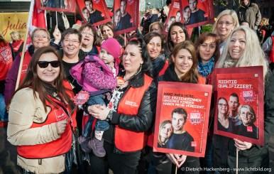 ver.di Streikveranstaltung ErzieherInnen. Foto Dietrich Hackenberg