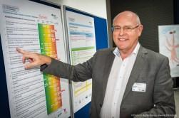 Fachhearing Gesundheitsmanagement und Gesunde Arbeit im Einzelhandel. Harald Sorg von der REWE Markt GmbH. foto Dietrich Hackenberg