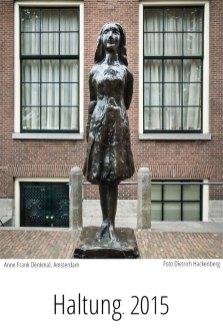 Anne Frank Denkmal, Amsterdam. Kartenmotiv. Foto Dietrich Hackenberg