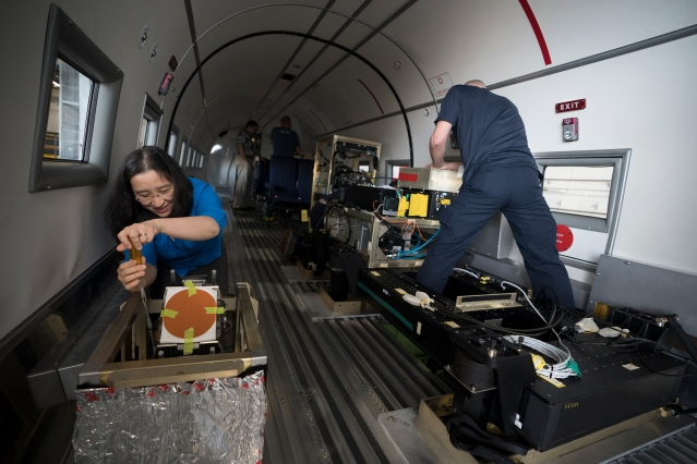 Phot o of Inside Lincoln Laboratory DC-3 Photo by Glen Cooper