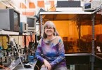 picture of Donna Strickland in Her Lab