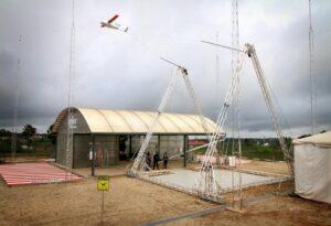 Photo of Zipline Drone Being Caught