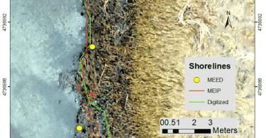 Map of Monitoring Salt Marsh Shorelines