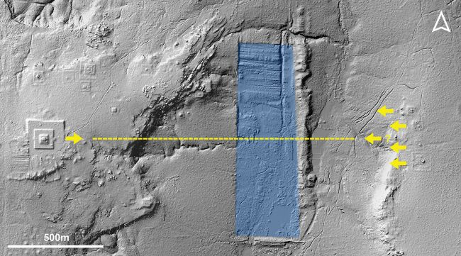 Map of Lidar Used to Understand Design of Ancient City