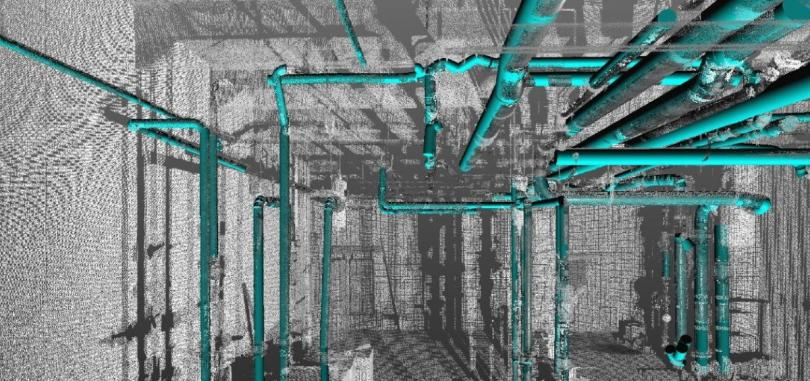 point cloud image of Scan to BIM Using AI