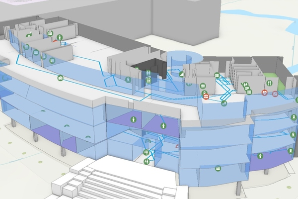 model of CAD and GIS Firms offer Indoor Digital Twins