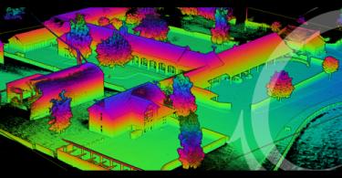 point cloud of Building a Full Lidar Survey Solution