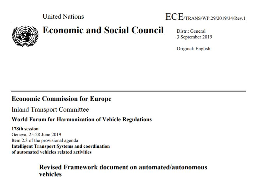 Systems Engineering is State of the Art for ADAS – see UNECE recommandation