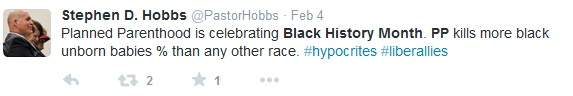 Planned Parenthood and Black History Month tweets 3