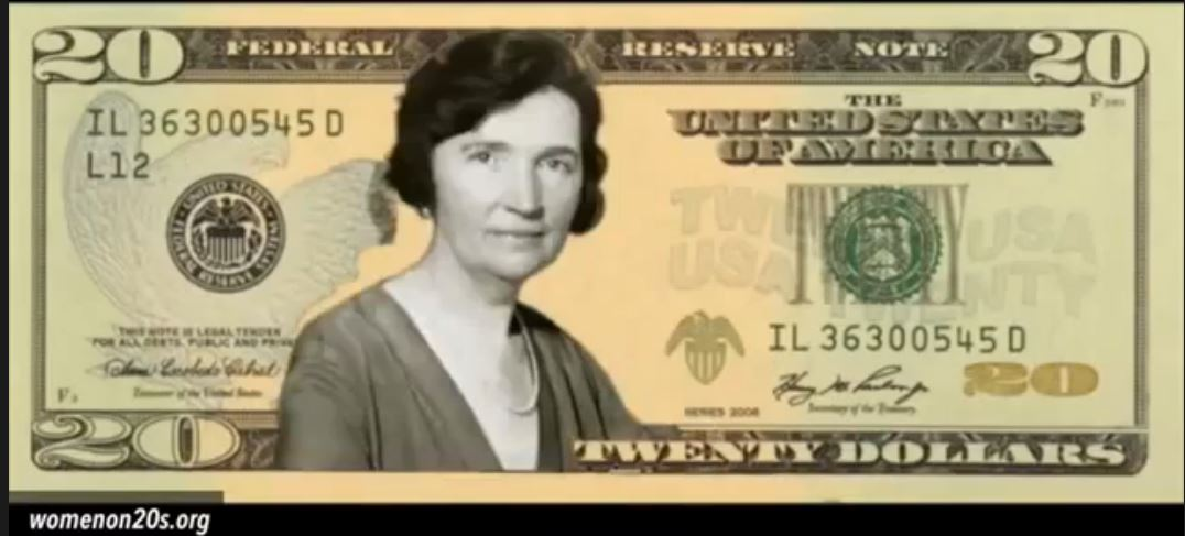 Margaret Sanger 20 dollar bill Woman on 20s