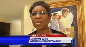 Catherine Davis speaks to media Selma March