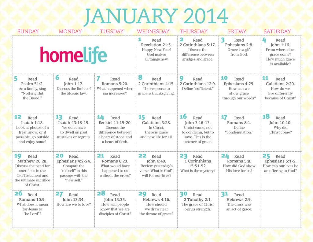 January Family Time Calendar Amp Scripture Art