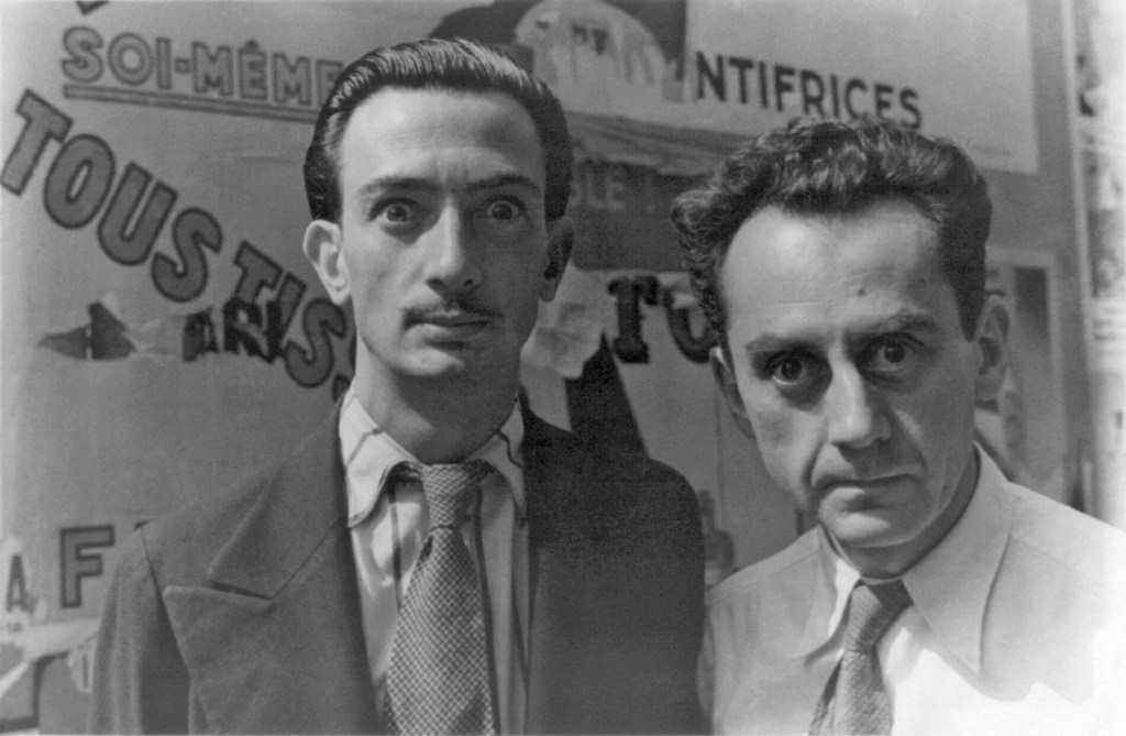 Porrait of Man Ray and Salvador Dali.