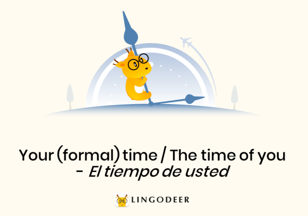 possessive pronoun in spanish: your (formal) time/the time of you - el tiempo de usted