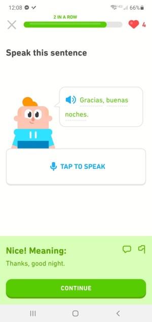 Duolingo Spanish Review speaking