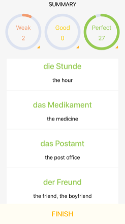 learn german lingodeer app flashcard