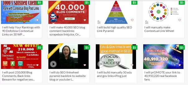 fiverr selling links- link scheme