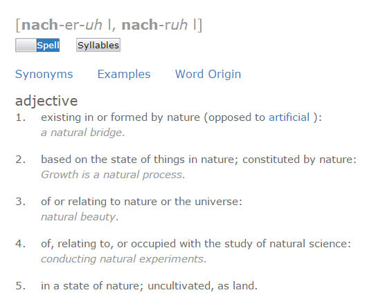 natural define