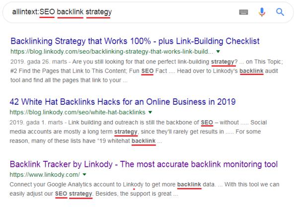 allintext google search operators cheatsheet