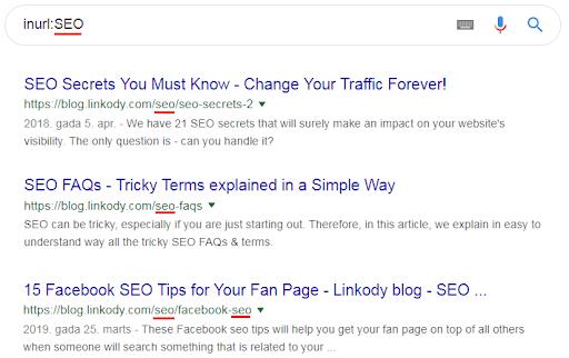 inurl for google search operators cheatsheet