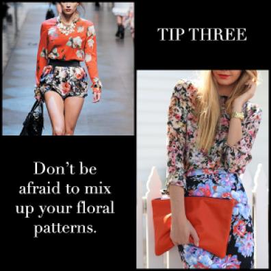 Floral Prints Tip Three