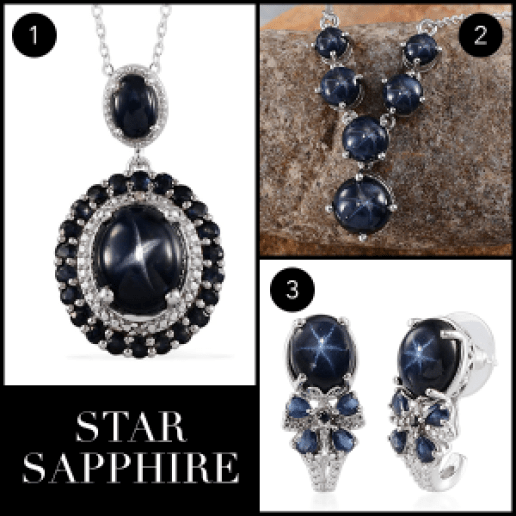 Rare and Exotic Gemstones - Star Sapphire Collage