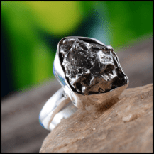 Rare and Exotic Gemstones - Meteorite Ring