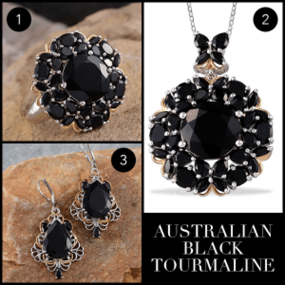 Rare and Exotic Gemstones - Australian Black Tourmaline Collage