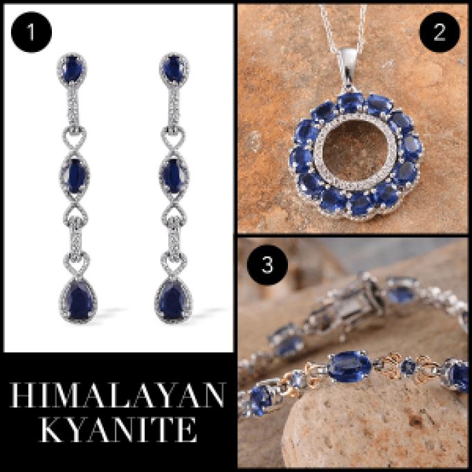 Rare and Exotic Gemstones - Himalayan Kyanite Collage