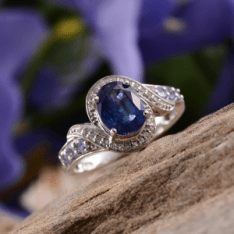 Rare and Exotic Gemstones - Himalayan Kyanite Ring