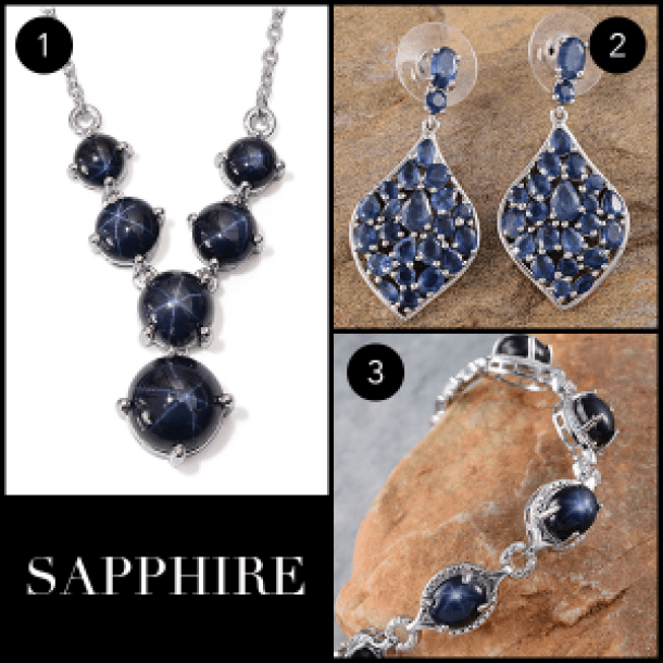September Birthstone - Sapphire Collage