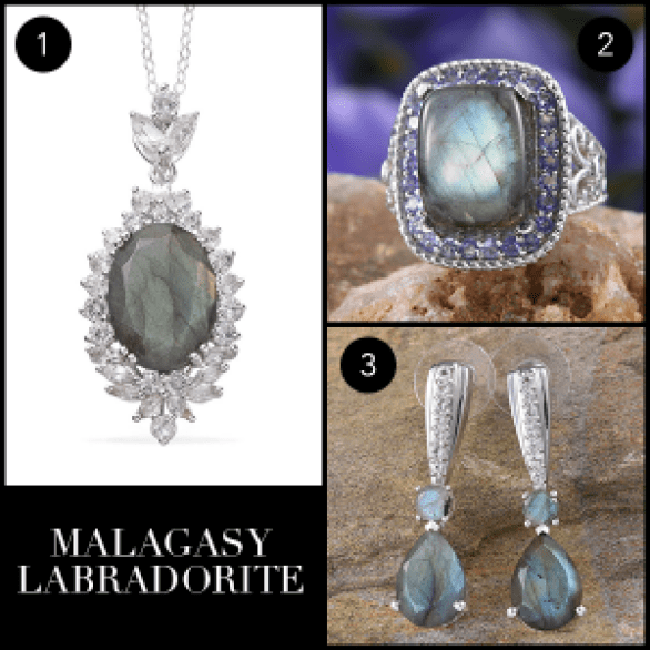 Rare and Exotic Gemstones - Malagasy Labradorite Collage