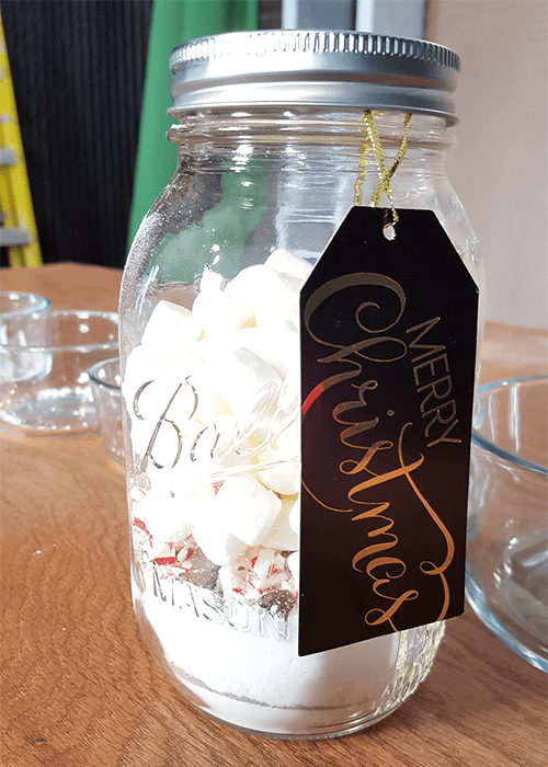 DIY Hot Cocoa in a Jar - finished gift