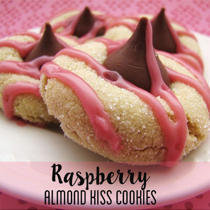 Valentines Day Cookie Recipes - Raspberry Almond Kiss Cookies
