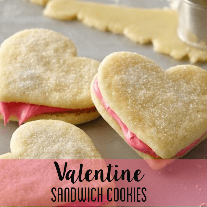Valentines Day Cookie Recipes - Valentine Sandwich Cookies