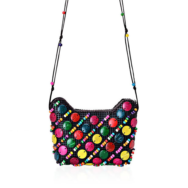 Multi-Color Coconut Shell Handbag