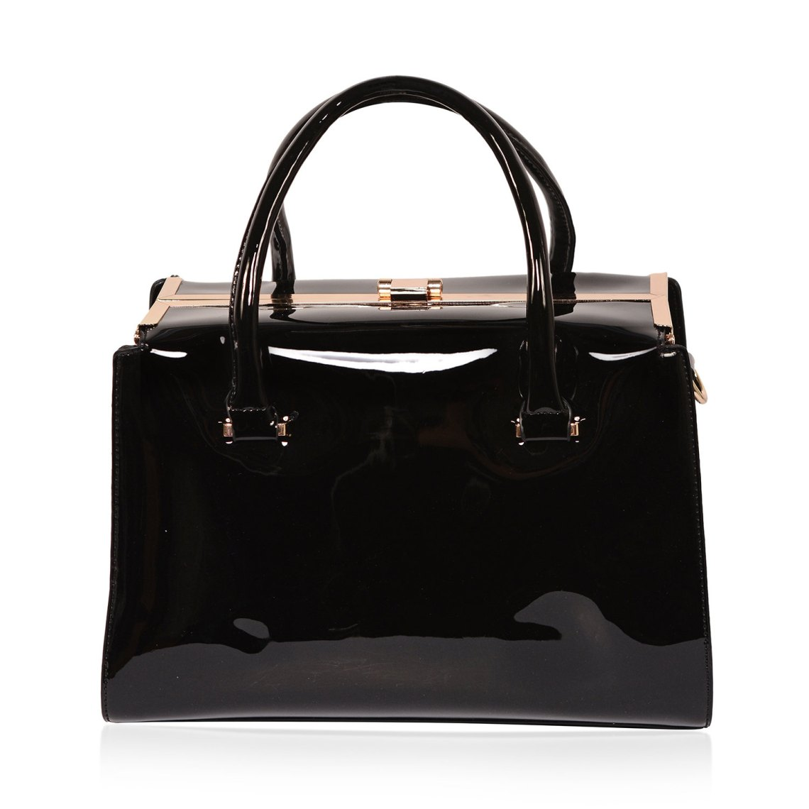 J Francis - Black Faux Leather Tote Bag