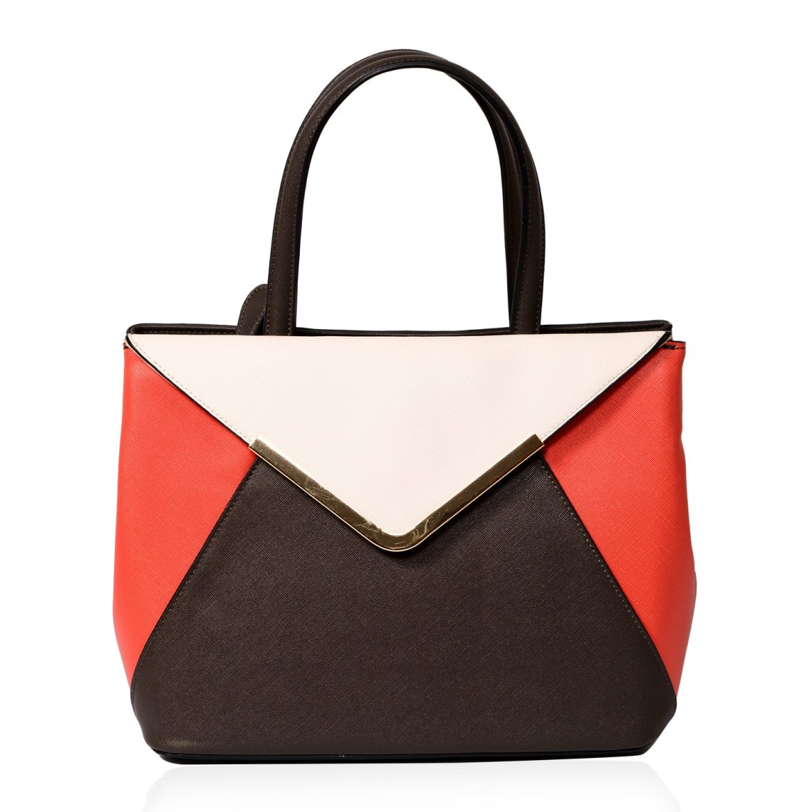 Multi Color Vegan Leather Envelope Satchel