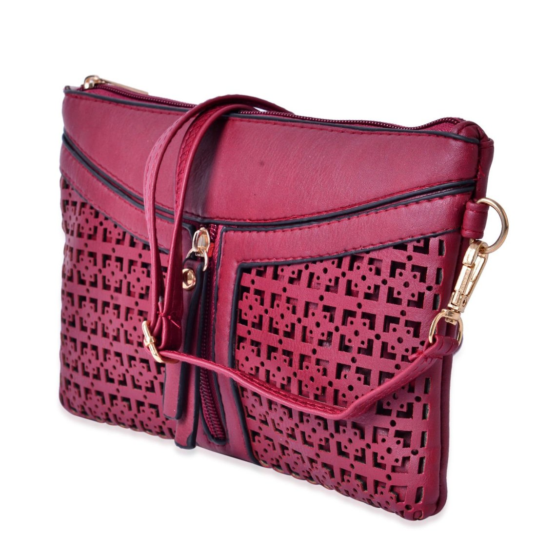 J Francis - Red Faux Leather Crossbody Bag
