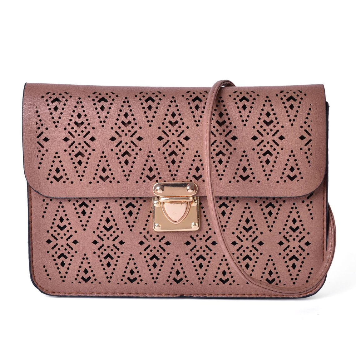J Francis - Camel Faux Leather Crossbody Bag