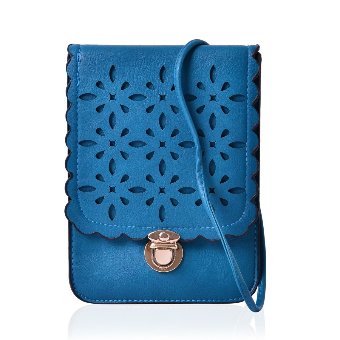 J Francis - Teal Faux Leather Crossbody Bag