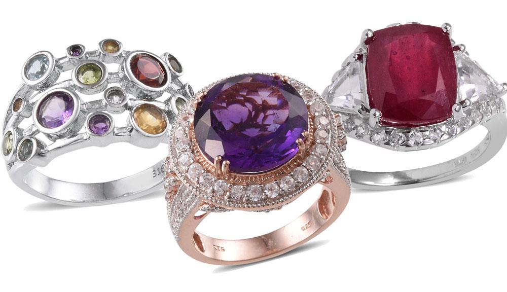 Fashion Week Roundup Jewelry - Multi-Gemstone Cocktail Rings
