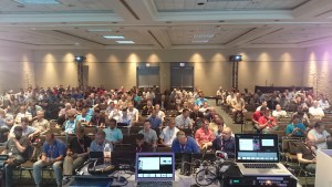The Audience Filling in prior to the session.