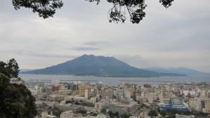 城山から見る桜島
