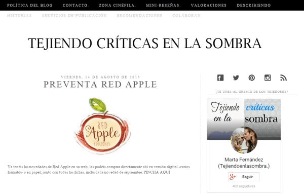 Blogs literarios: Tejiendo críticas en la sombra