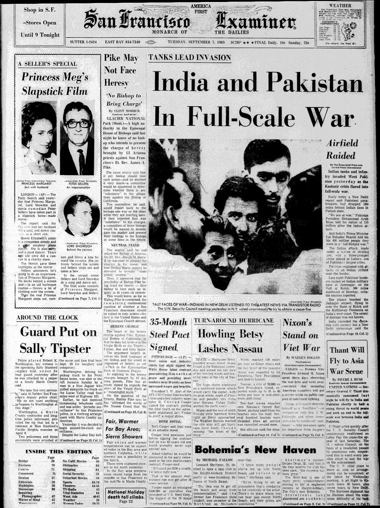 San Francisco Examiner, September 7, 1965