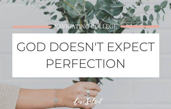 God doesn't expect perfection feature