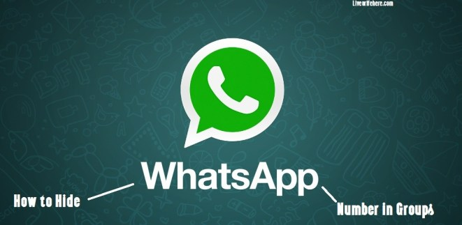 How to hide whatsapp number in group